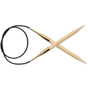 "Knitter's Pride Bamboo Fixed Circular Needles - US 10.75 (7.0mm) - 32"" Needles"