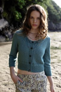 Rowan Panama Ocean Cropped Sweater Kit - Women's Cardigans