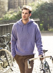 Rowan Pure Wool Worsted Tavish Men's Hooded Sweater Kit - Mens Sweaters