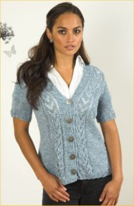 Plymouth Linen Concerto Women's Cardigan Kit - Women's Cardigans