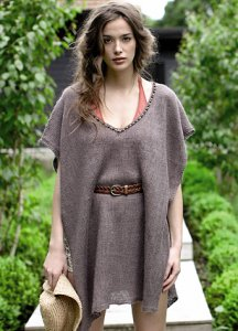 Rowan Pure Linen Mermaid Poncho Kit - Women's Accessories