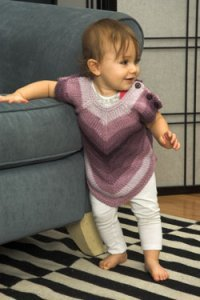 Plymouth Encore Worsted Colorspun Baby/Toddler Pointed Hem Pullover Kit - Baby and Kids Pullovers