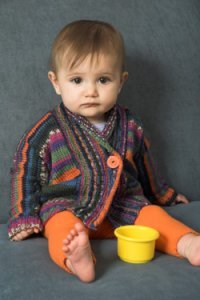 Adriafil KnitCol Baby Cardigan Kit - Baby and Kids Cardigans