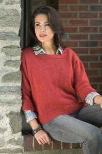 Plymouth Encore Worsted Women's Dolman Pullover Kit - Women's Pullovers