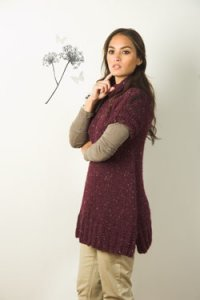 Plymouth Baby Alpaca Grande Tweed Tunic Kit - Women's Pullovers