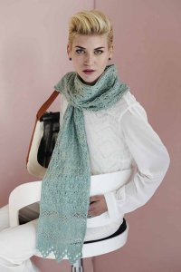 The Fibre Company Meadow Floral Lace Scarf Kit - Scarf and Shawls