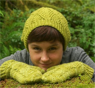 Malabrigo Worsted Merino Sitka Spruce Hat & Mittens Kit - Hats and Gloves