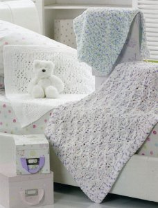 James C. Brett Flutterby Chunky Baby Blanket Trio Kit - Baby and Kids Accessories