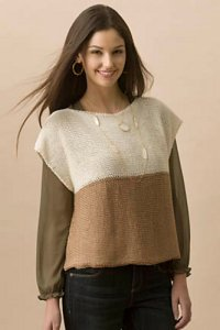 Tahki Cotton Classic Breezy Tabard Top Kit - Women's Pullovers