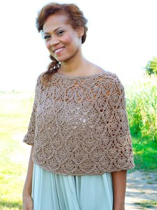 Berroco Fuji Lisbon Crocheted Poncho Kit - Crochet for Adults