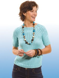 Berroco Modern Cotton Joyce Top Kit - Women's Pullovers