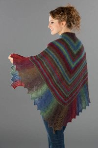 Wisdom Yarns Poems Sock Lace Edge Garter Stitch Shawl Kit - Scarf and Shawls