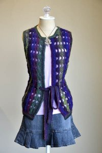 Wisdom Yarns Poems Cross the Night Sky Vest Kit - Vests