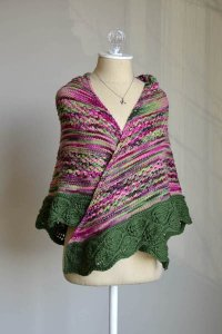 Universal Yarns Jubilation and Deluxe Worsted In The Garden Shawl Kit - Scarf and Shawls