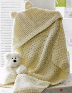 James C. Brett Flutterby Chunky Hooded Blanket Kit - Baby and Kids Accessories