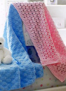 James C. Brett Flutterby Chunky Baby Blanket Duo Kit - Baby and Kids Accessories