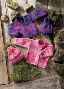 James C. Brett Marble Chunky Baby Cardigan Kit - Baby and Kids Cardigans