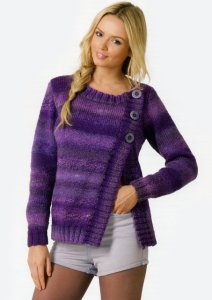 James C. Brett Marble Chunky Asymmetrical Cardigan Kit - Women's Cardigans