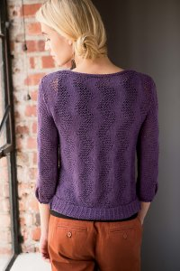 Spud and Chloe Fine Zigzag Mesh Pullover  Kit - Women's Pullovers