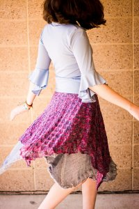 Juniper Moon Farm Findley & Findley Dappled Amaranthus Skirt Kit - Dresses and Skirts