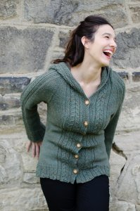 Juniper Moon Farm Herriot Merrimack Hooded Cardigan Kit - Women's Cardigans