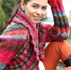 Noro Kureyon Cabled Shrug Kit - Women's Cardigans