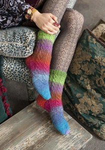 Noro Silk Garden Sock Faux Cable Socks Kit - Socks