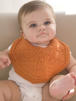 Berroco Comfort Chunky Orangelo Bib Kit - Baby and Kids Accessories