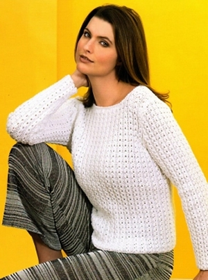 Tahki Cotton Classic Mock-Cable Pullover Kit - Women's Pullovers