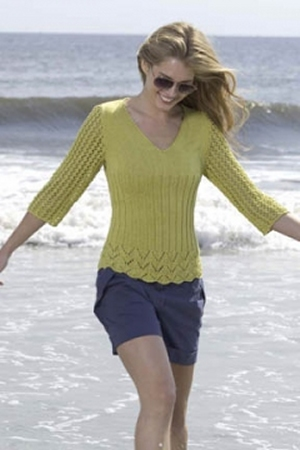 Tahki Cotton Classic Stitch Sample Pullover Kit - Women's Pullovers