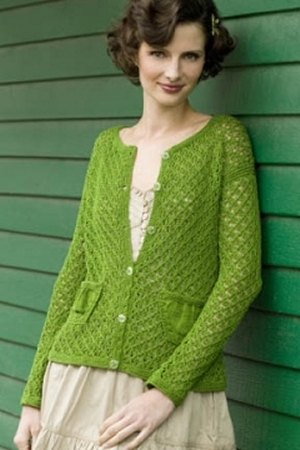 Tahki Cotton Classic Lite Greensleeves Cardigan Kit - Women's Cardigans