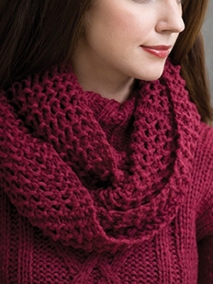 Tahki Aria Wine Country Cowl Kit - Scarf and Shawls