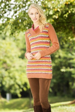 Universal Yarn Deluxe Worsted Superwash September Days Tunic Kit - Women's Pullovers