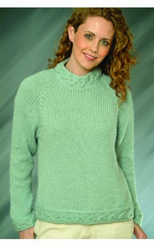Plymouth Baby Alpaca Grande Top Down Ladies Pullover Kit - Women's Pullovers