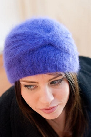Plymouth Angora Cloche Hat Kit - Hats and Gloves