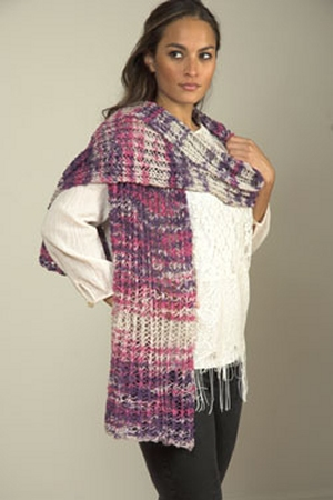 Plymouth Linen Concerto Stole Kit - Scarf and Shawls