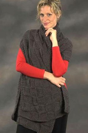 Plymouth Encore Worsted Basketweave Prayer Shawl Kit - Scarf and Shawls