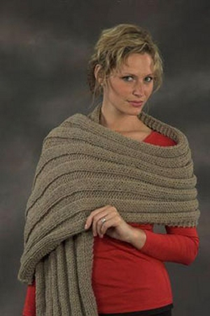Plymouth Encore Worsted Wide Rib Prayer Shawl Kit - Scarf and Shawls
