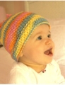 Plymouth Fantasy Naturale Knotted Baby Hat