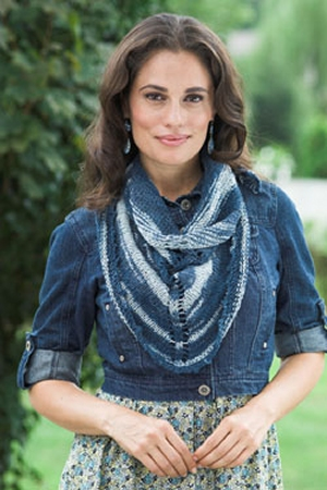 Plymouth Linen Concerto Picot Scarf  Kit - Scarf and Shawls