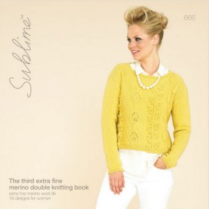 Sublime Books - 666 - The Third Extra Fine Merino Double Knitting Book