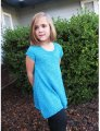 Knitting Pure and Simple Baby & Children Patterns - 1502  - Girls Top Down Trapeze Tunic