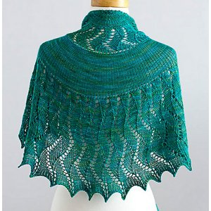 SweetGeorgia Patterns - Rushing Tide Shawl