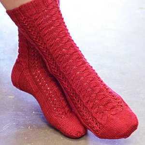 SweetGeorgia Patterns - Cherry Lane Socks