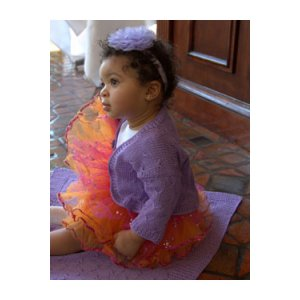 Plymouth Yarn Baby & Children Patterns - 2807 Butterfly Stitch Shrug and Blanket Pattern