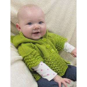 Knitting Pure and Simple Baby & Children Patterns - 1505 - Lacy Baby Hoodie Pattern