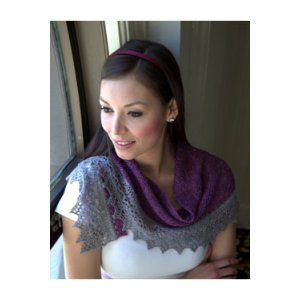 Plymouth Women's Accessory Patterns - 2883 2-Color Shawl Pattern