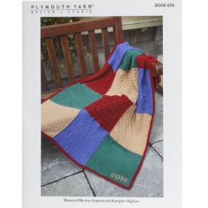 Plymouth Books - 656 Worsted Merino Superwash Sampler Afghan