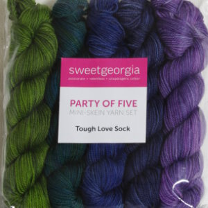 SweetGeorgia Tough Love Sock Party of Five Mini-Skein Set Yarn