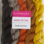 SweetGeorgia Tough Love Sock Party of Five Mini-Skein Set Yarn - Golddigger